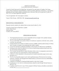 Cleaning Contract Templates Proposal 5 Professional Cleaning Services Sample Housekeeping