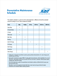 10 Maintenance Schedule Examples Samples Examples