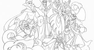 Small Picture Disney Villains Printable Coloring Pages Free Coloring Page Disney
