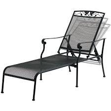 mainstays jefferson wrought iron chaise