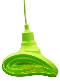 Led Pendel Hanglamp Siliconen E27 Strijkijzersnoer Appeltjesgroen