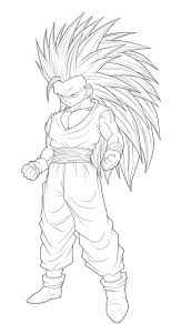 Dragon Ball Z Vegeta Coloring Pages With Goku Super Saiyan 3 Page