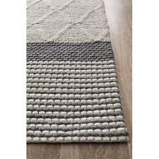 network rugs jerrold grey hand woven flatweave wool viscose rug