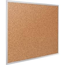 Cork Bulletin Board Quartet 2303 Alum Frame Bulletin Boards Wbrackets 24 Height X 36