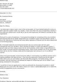 cover letter for superintendent job superintendent cover letter