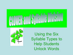 Clover And Syllable Division Ppt Video Online Download