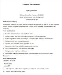 Call Center Resume Cool Call Center Resume Example 28 Free Word PDF Documents Download