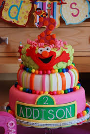 2nd Birthday Girl Elmo Cake Cakecentralcom