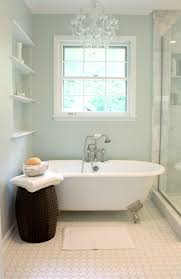 ... Astounding Bathroom Decoration Design With Painted Clawfoot Tub :  Beautiful White Painted Clawfoot Tub Decoration Using ...