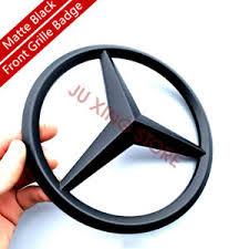 Car racing grills emblem sticker for audia4l a5 a6l q5 q7l for sline metal front grille sticker car styling. Matte Black Front Grille Emblem Star Logo For Mercedes Benz W205 C Class 2014 17 Ebay