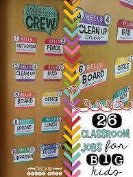 Classroom Jobs 4th 5th 6th 7th Grades School