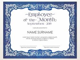 Employee Of The Month Award Employee Of The Month Editable Template Editable Award Employee Of The Month Printable Template Pdf Instant Download D103