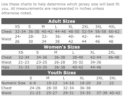 Size Chart Mlb Jersey Store
