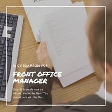Sample Office Manager Resumes Top 10 Front Office Manager Resume Formats Cv Samples