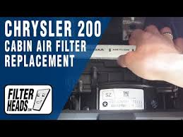 how to replace cabin air filter chrysler 200 how to replace cabin air filter chrysler 200