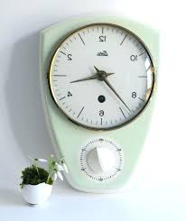 retro kitchen wall clock vintage sunbeam with timer antique clocks large