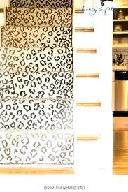 animal print stair runners runner leopard rug dean x 6 carpet