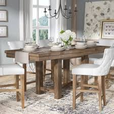 hillary counter height extendable dining table modern farmhouse dining table l14