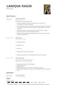 Assistant Teacher Resume Samples Visualcv Resume Samples Database
