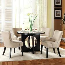 casual yet modern round glass dining table with chairs contemporary sets room on circular