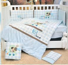 7pcs embroidered baby crib bedding set baby bed set comforter cot quilt 2per duvet sheet pillow bedding sets