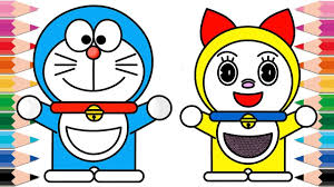 Our system stores learn coloring for a little about the app learn coloring for doraemon. How To Draw Doraemon And Dorami Coloring Pages For Kids Learn Colors Youtube Video For Children Youtube