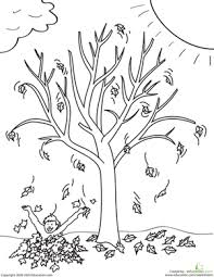 Small Picture Fall Tree Coloring Page Coloring Coloring Pages