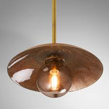 copper glass pendant