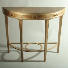 small hall furniture. Antique Modern Mirrored Demilune Hall Console Table With Shelves For Small Spaces Ideas Furniture