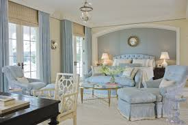 fascinating light blue bedroom decorating ideas and best long curtain design
