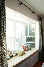 attractive window treatment ideas for bay windows and window doors