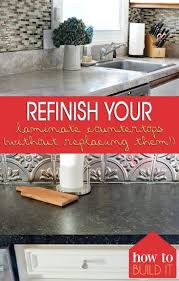 how to refinish laminate countertops