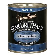 Varathane 1 Qt Clear Satin Water Based Outdoor Spar Urethane
