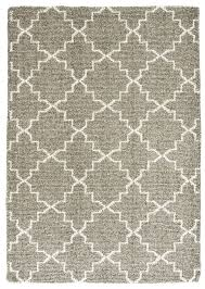 moroccan trellis heathered taupe natural wool loom hooked rug