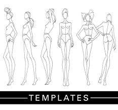Blank Fashion Design Templates Delectable DRAWING Print Out Tracing Templates And Showcase Your Collection