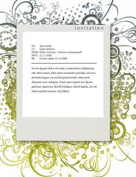 party invitation templates for microsoft word greenfloralinvitationtemplate