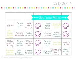 Monthly Meal Planner Printable Editable Menu Planner Template Bunnycamp Info