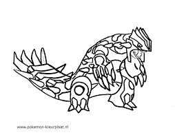 Primal Groudon Primalgroudon Pokemon Coloringpage