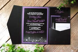 Black And Purple Invitations Purple And Black Wedding Invitations Unique Wedding Ideas