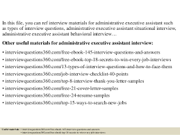 Interview Questions For Executive Assistants Top 10 Administrative Executive Assistant Interview