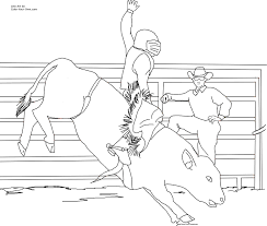 Small Picture Miniature Bucking Bull Coloring Page