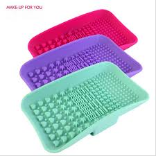 silicone makeup brush cleaner. makeup for you silicone makeup brush cleaning mat washing tools hand tool large pad sucker scrubber cleaner l