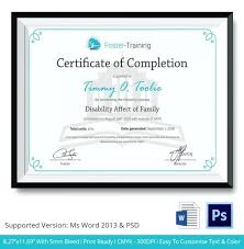 free training completion certificate templates training certificate template publisher certificate course