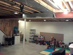 unfinished basement lighting. Unfinished Basement Lighting Ideas Fresh At Cute Ceiling