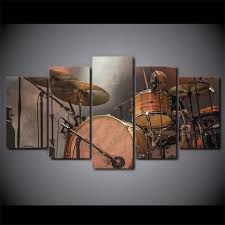>5 pieces vintage drum set canvas art artistic pod size 2 30x50cmx2pcs 30x70cmx2pcs 30x80cmx1pc 12x20x2 12x28x2 12x32inchx1