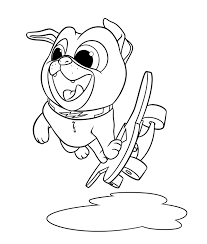 Puppy Dog Pals Bingo Coloring Pages Printable To Print For Kids Pictures