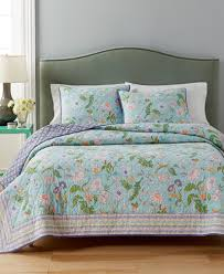 CLOSEOUT! Martha Stewart Collection 100% Cotton Sophie Reversible ... & Martha Stewart Collection 100% Cotton Sophie Reversible Floral Full/Queen  Quilt, Adamdwight.com