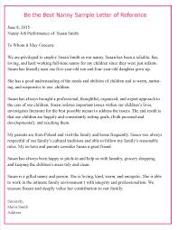 nanny recommendation letter cover letter database nanny recommendation letter nanny recommendation letter nanny recommendation letter
