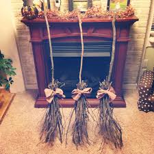 Halloween Bathroom Accessories Diy Witches Broom Halloween Decorations Halloween Pinterest