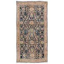 antique persian sultanabad rug handmade wool oriental rug navy blue for